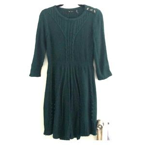 Dark green sweater dress!